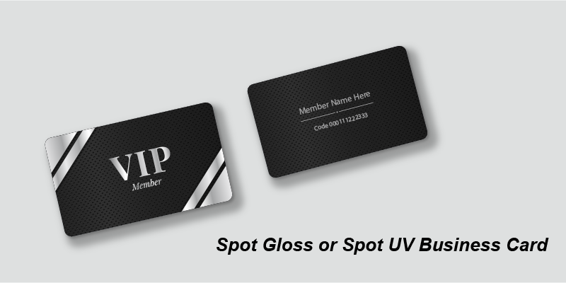 Spot Gloss or Spot UV Business Card