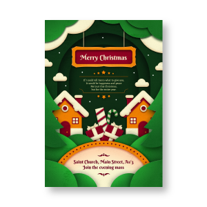 Candy's Christmas Invitation card