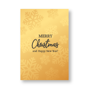 Gold Christmas Invitation card