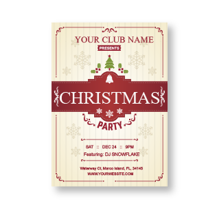 Vintage Clubbing Invitation Card