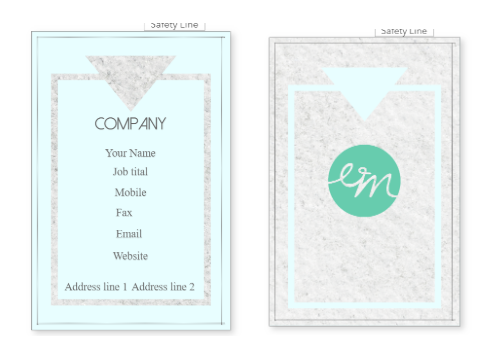 Simple Name Card Template