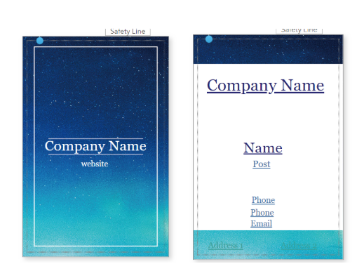Galaxy Name Card Template