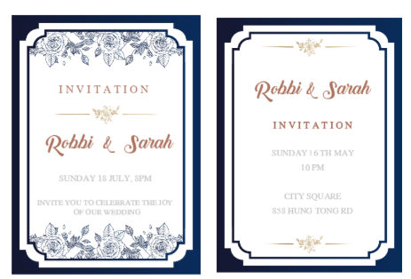 Glamorous Wedding Invitation