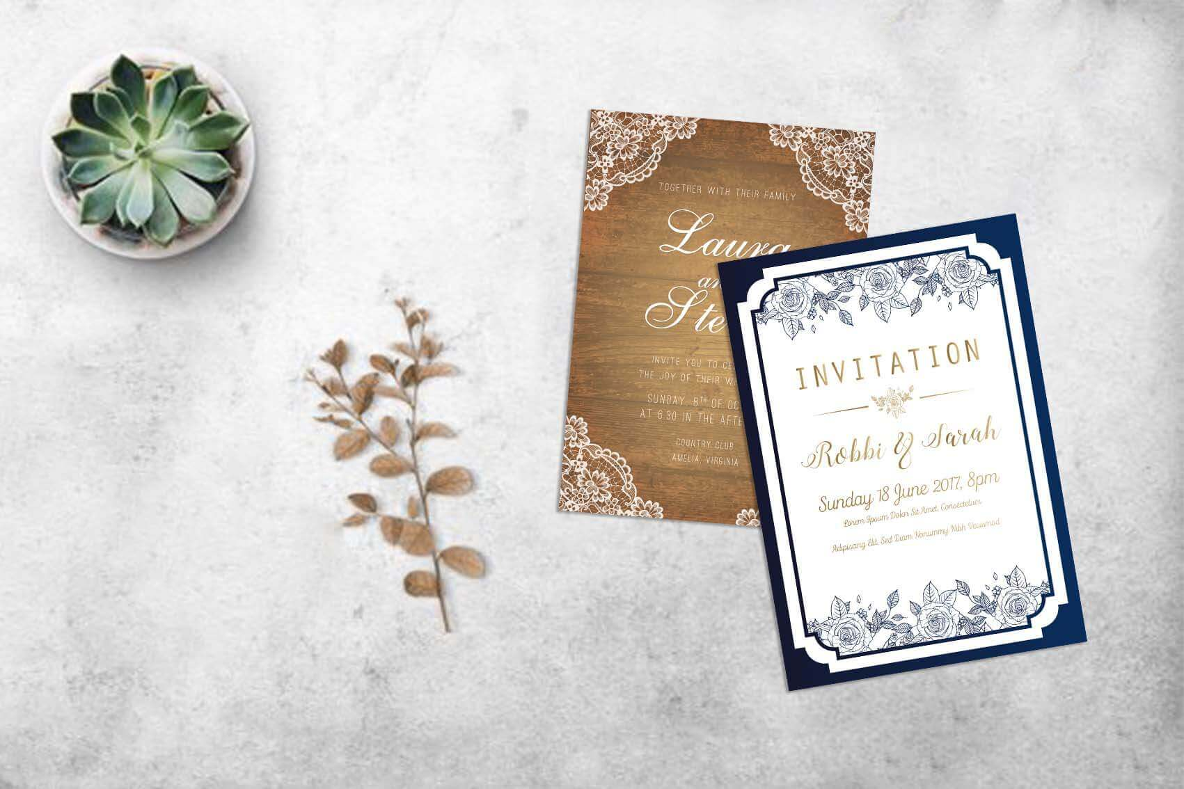 Printing Your Own Wedding Invitations: Wedding Card Invitation Templates